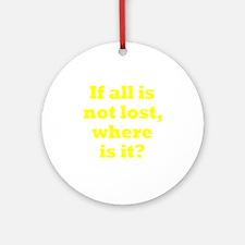 lost3 Round Ornament