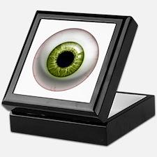 16x16_theeye_green Keepsake Box