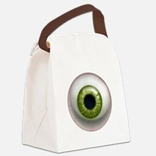 16x16_theeye_green Canvas Lunch Bag