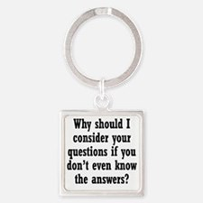 questions1 Square Keychain