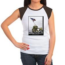Iwopartial portret 16x2 Women's Cap Sleeve T-Shirt
