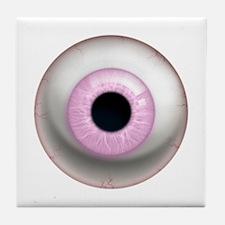 16x16_theeye_pinklight Tile Coaster