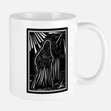 Black And White Christmas Nativity Mug
