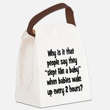 slept_baby1 Canvas Lunch Bag