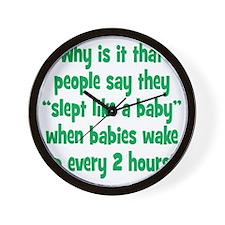 slept_baby2 Wall Clock