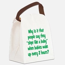 slept_baby2 Canvas Lunch Bag