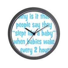 slept_baby3 Wall Clock