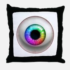 16x16_theeye_rainbow Throw Pillow
