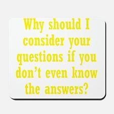 questions3 Mousepad