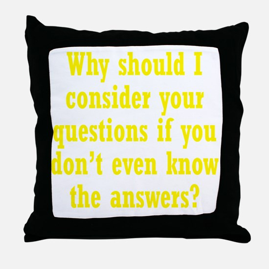 questions3 Throw Pillow