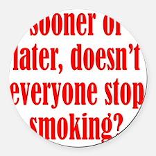 smoking2 Round Car Magnet