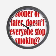 smoking2 Wall Clock