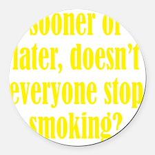 smoking3 Round Car Magnet