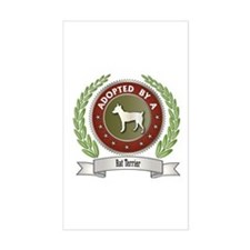 Rat Terrier Adopted Rectangle Decal