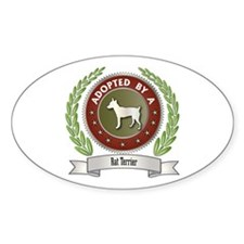 Rat Terrier Adopted Oval Decal
