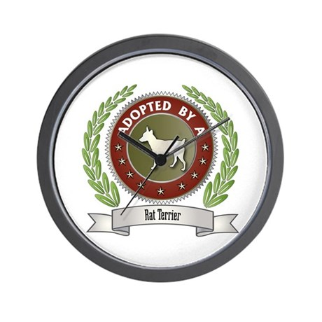 Rat Terrier Adopted Wall Clock