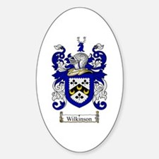 Wilkinson Coat of Arms Crest Oval Decal