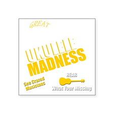 """Funny Ukulele uke hawaii Square Sticker 3"""" x 3"""""""