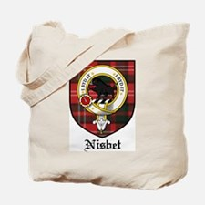 Nisbet Clan Crest Tartan Tote Bag