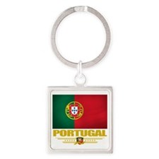 Portugal (Flag 10) Square Keychain
