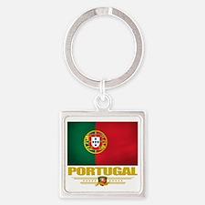 Portugal (Flag 10) Square Keychain