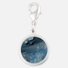 gale_crater Silver Round Charm