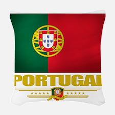 Portugal (Flag 10) Woven Throw Pillow