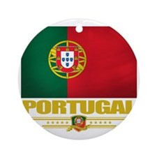 Portugal (Flag 10) Round Ornament