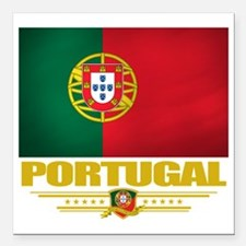 "Portugal (Flag 10) Square Car Magnet 3"" x 3"""