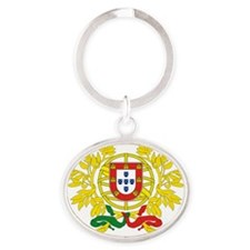 Portugal Coat of Arms Oval Keychain