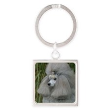 Poodle Toy 9F28D-09 Square Keychain