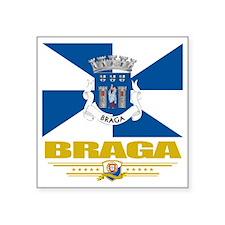 "Braga (Flag 10) Square Sticker 3"" x 3"""