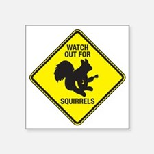 "Squirrels_10inch Square Sticker 3"" x 3"""