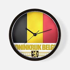 Belgium (Flag 10) Wall Clock