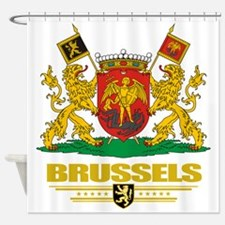 Brussels COA (Flag 10) Shower Curtain