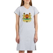 Brussels COA (Flag 10) Women's Nightshirt