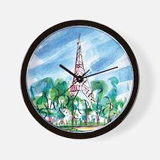 awp_cafepress_toureiffel_full modern .p Wall Clock