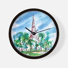 awp_cafepress_toureiffel_full large .pn Wall Clock