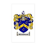 Whitehead Coat of Arms Crest Rectangle Sticker