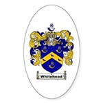 Whitehead Coat of Arms Crest Oval Sticker