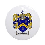 Whitehead Coat of Arms Crest Ornament (Round)