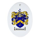 Whitehead Coat of Arms Crest Oval Ornament