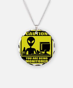 Caution_Alien Necklace