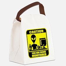 Caution_Alien Canvas Lunch Bag