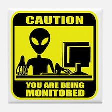 Caution_Alien Tile Coaster