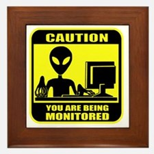 Caution_Alien Framed Tile