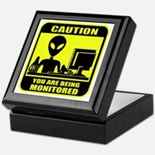 Caution_Alien Keepsake Box