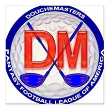 """Douchemasters Patch 2002 Square Car Magnet 3"""" x 3"""""""