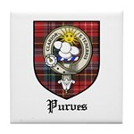 Purves Clan Crest Tartan Tile Coaster