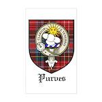 Purves Clan Crest Tartan Rectangle Sticker
